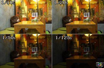 shutterspeed_ตัวอย่างความสว่างต่อความเร็วชัตเตอร์ต่างๆ